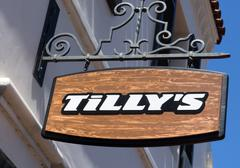 Tilly's Store and Sign Stock Photos