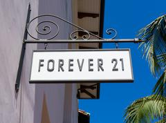 Forever 21 Store and Sign - stock photo