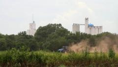 Kingfisher Oklahoma - Tractor 02 Stock Footage