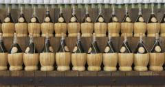Bottle of wine Stock Footage