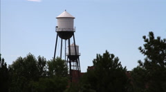 Pueblo Colorado Riverwalk / Historic Arkansas Riverwalk 05 - Silos Stock Footage