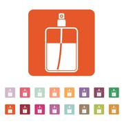 The perfume icon. Cologne symbol. Flat Stock Illustration