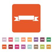 Stock Illustration of The banner icon. Ribbon symbol. Flat