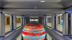 Hall. Social and cultural center Galaxy, Sochi, Russia. 1280x720 Stock Footage