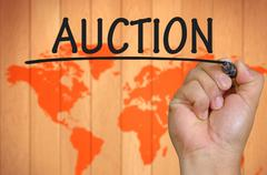 hand writing auction - stock photo