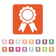 The award icon. Achievement symbol. Flat Stock Illustration