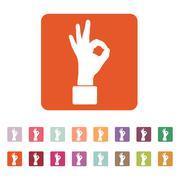 The OK icon. Okay symbol. Flat Stock Illustration