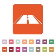 The road icon. Highway symbol. Flat Stock Illustration