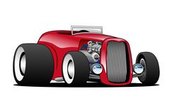 Classic Street Rod Hi Boy Roadster Illustration Stock Illustration