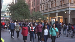 Sydney  city Central people shopping Stock Footage