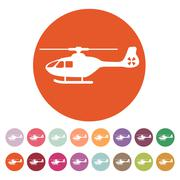 The helicopter icon. Copter symbol. Flat Stock Illustration