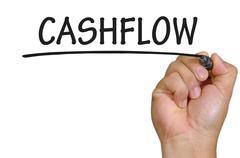 Hand writing cashflow Stock Photos