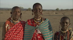 Portrait Maasai Women, Rift Valley Stock Footage
