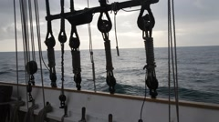 Stock Video Footage of View from sailing boat at dawn