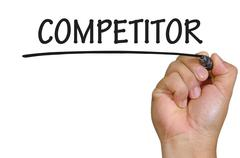 Hand writing competitor Stock Photos