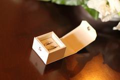Bridal rings Stock Photos