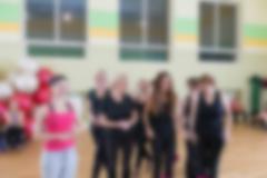 Dance class for women blur background Stock Photos