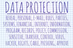 Data protection word cloud - stock photo