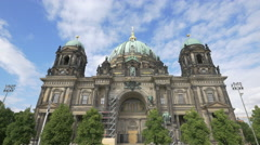 The facade of Berlin Cathedral Church Stock Footage