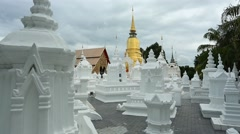Wat Suan Dok in Chiang Mai, Thailand Stock Footage