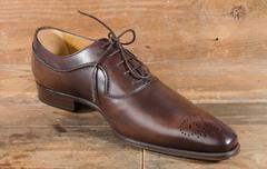 Luxury classic brown shoe Stock Photos