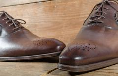 Luxury classic brown shoes Stock Photos