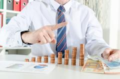 Concept of financial growth - stock photo