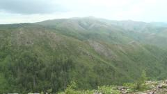 Panorama over hills and valley Stock Footage