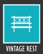 Vector simple icon for rest. Bench in park Stock Illustration
