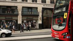 Burberry shop, London Stock Footage