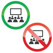 Audience permission signs set Stock Illustration