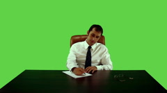 Businessman Working Nervously Stock Footage