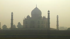 Winter Morning At the Taj Mahal, India Stock Footage