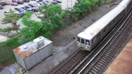 Stock Video Footage of New York Subway Train From Above