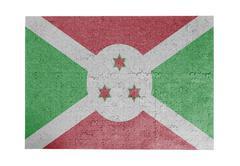 Large jigsaw puzzle of 1000 pieces - Burundi - stock photo
