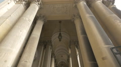 The massive columns of Berliner Dom, Berlin Stock Footage