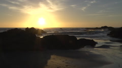 Sunset Time-lapse by Pacific Ocean in northern California Stock Footage