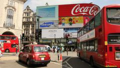 Traffic in Piccadilly Circus, London - stock footage
