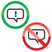 Stock Illustration of Answer permission signs set