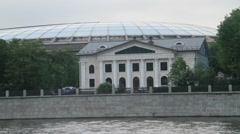 "Olympic complex ""Luzhniki"" in the summer, the view from the river Stock Footage"