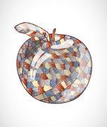 Abstract apple. - stock illustration