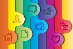 Abstract colorful layout. - stock illustration