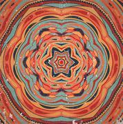 Colorful retro ornament. - stock illustration