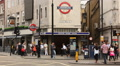Leicester square underground station entrance HD Footage