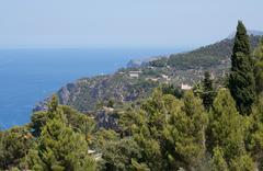 Majorca west coast scenery - stock photo