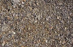 Crushed rock, Gravel, background - stock photo