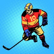 Hockey player number 10 - stock illustration