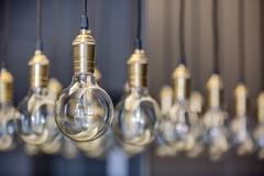 Edison lamps - stock photo