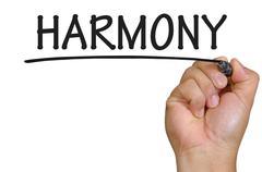 hand writing harmony - stock photo