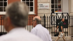 People walking in King street, London Stock Footage